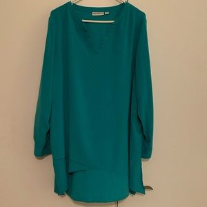 Beautiful, green tunic blouse